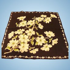 Black Dogwood Handkerchief