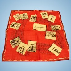 French Dated Handkerchief
