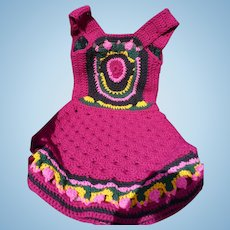 1970's Hand Crochet Hippy Dress