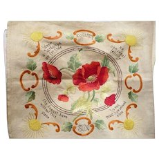 1900's Embroidered August Piece