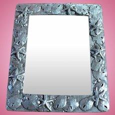 Pewter Sand Dollar Mirror Frame