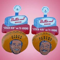 Cisco Kid Butternut Bread Pinback Set