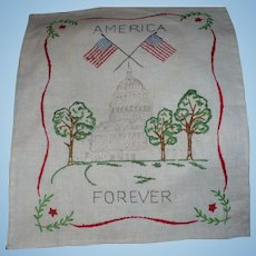 America Forever Embroidered Piece