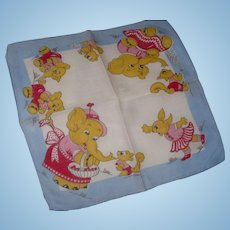 Elephants Playing Handkerchief