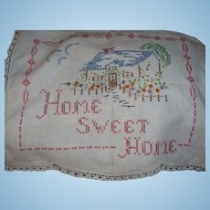 Home Sweet Home Embroidered Piece