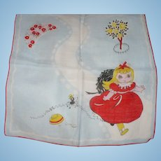 Little Miss Muffet Handkerchief
