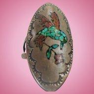 Mosaic Bird Silver Ring