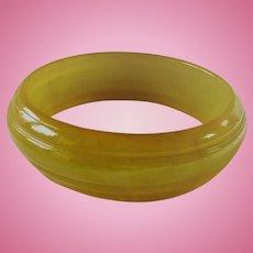 Bakelite Green Saturn Bracelet