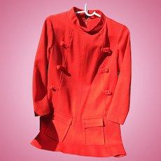 1960's Red Mini Dress