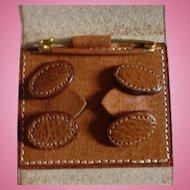 Leather Cufflinks Collar Pin