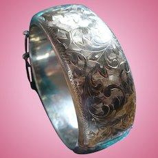 Sterling Etched Bracelet