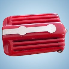 Red Bakelite Pocket Flashlight