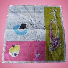 Giraffe Modern Art Handkerchief