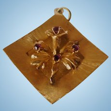 14K Orchid Charm