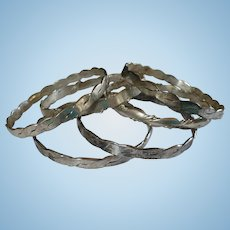 Mexican Sterling Bangle Bracelets