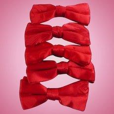 Red Satin Bowties