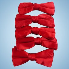Red Satin Bowties
