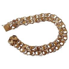 14K Heart Link Bracelet