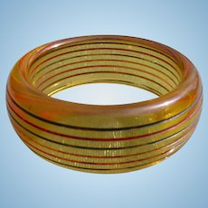 Stripe Applejuice Bakelite Bracelet