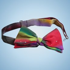 Bright Handpainted Silk Bowtie