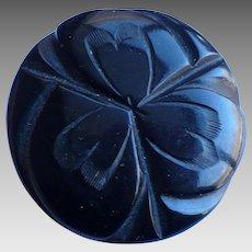 Black Bakelite Coat Button