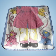 Little Girl Dogs Handkerchief