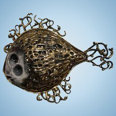 Brutalist Fish Pin