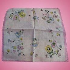 Dancing Flowers Handkerchief