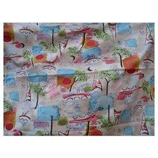 Cotton Knit Tree Fabric  2 yards