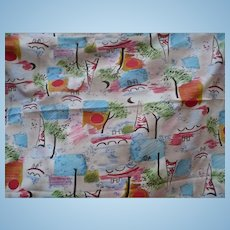 Cotton Knit Tree Fabric  2 yards