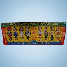1953 Moving Picture Pencil Box
