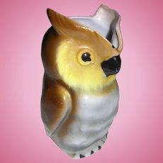 German Porcelain Owl Pitcher Creamer