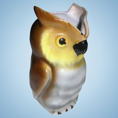 German Porcelain Owl Pitcher Creamer
