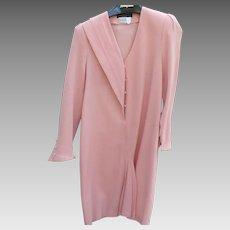 Pauline Jones Peach Wool Dress