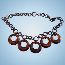 Bakelite Circle Necklace