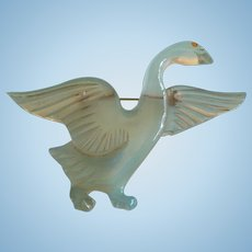 Lucite  Duck Pin
