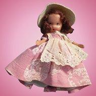 Nancy Ann Storybook Doll Pink Dress