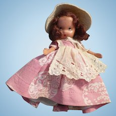 Nancy Ann Storybook Doll Pink Dress