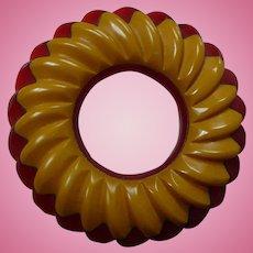 Two Color Bakelite Circle Pin