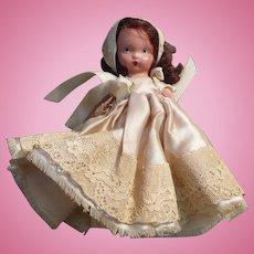 Nancy Ann Lace Satin Dress Doll