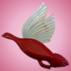 Lucite Bakelite Flying Bird