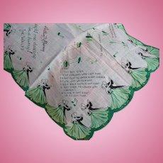 Arthur Murray Waltz Handkerchief