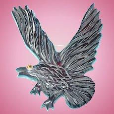 Large Carved Bakelite Eagle Pin