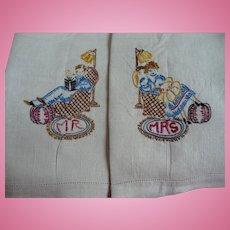 Mr & Mrs Fingertip Towels