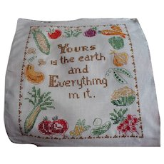Earth Embroidered Sampler
