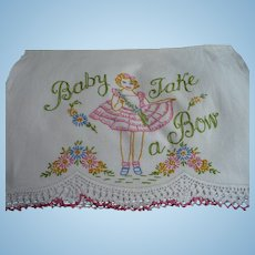 Baby Take Bow Embroidered Towel