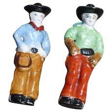 Bisque Cowboy Figures Occupied Japan