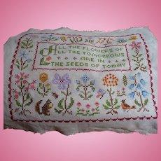 Embroidered Flower Sampler