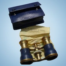 Leather Brass Opera Glasses