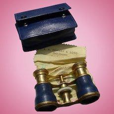 Leather Brass Opera Glasses